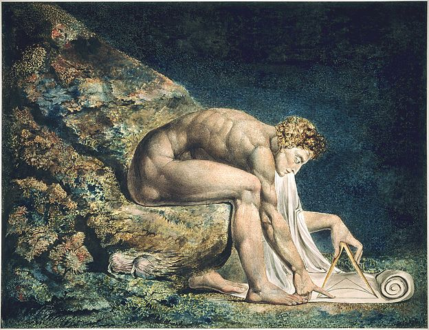William Blake: Newton (1795-1805).